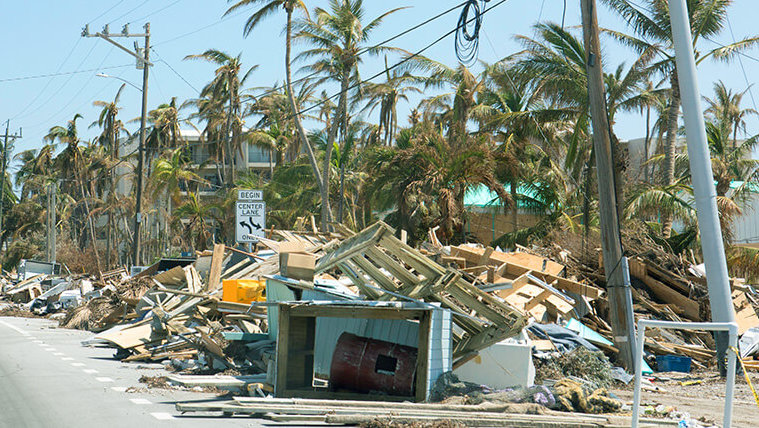Home devastated by hurricane