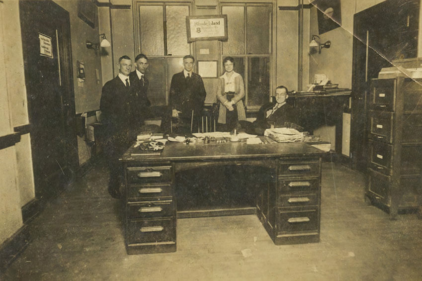 The founders of Hugh Cotton in their first office.